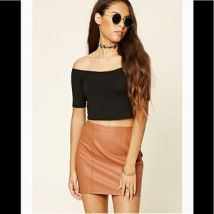 Forever 21 F21 Faux Leather Mini Skirt NWT